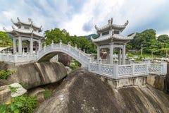 Bridge and garden of Kek Lok Si Buddhist temple Royalty Free Stock Photo
