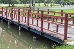 bridge in garden Royalty Free Stock Photo