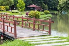 bridge in garden Royalty Free Stock Photos