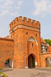 Bridge Gate (circa 1432) of Torun town, Poland Stock Photos