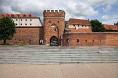 Bridge Gate and City Wall of Torun in Poland Stock Image
