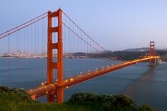 bridge gate golden Στοκ Εικόνα