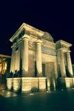 Bridge Gate (Puerta del Puente) triumphal Renaissance arch illum Royalty Free Stock Photo