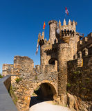 Bridge and gate of the Templar Castle. Ponferrada Royalty Free Stock Photo