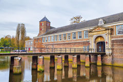 Bridge and gate to the castle of city Breda Stock Images