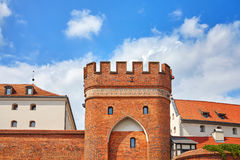 Bridge Gate to the Old Town in Torun, Poland. Bridge Gate to the Old Town in Torun, medieval city wall fortification, Poland stock photography