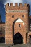 Bridge Gate in Torun. Bridge Gate known also as Ferry Gate in Torun (the mediaeval town listed among the UNESCO World Heritage Sites Royalty Free Stock Images