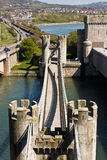 Bridge and gate tower for Conwy Castle Royalty Free Stock Photo