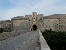 The bridge and gates of the fortress Stock Images