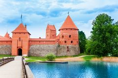 Bridge and gates of Trakai castle Royalty Free Stock Photos