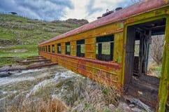 Bridge in Georgia made of Abandoned Train Car Royalty Free Stock Image