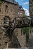 Bridge of the german castle called Rheinfels Royalty Free Stock Photography