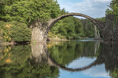 Bridge germany. Rakotz old bridge kromlau germany Royalty Free Stock Photos