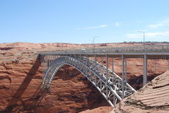 Bridge at Glen canyon dam Royalty Free Stock Image