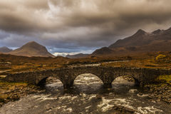 Bridge at Glen Sligachan Royalty Free Stock Photos