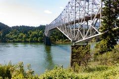 Bridge of the gods. The Bridge of the Gods linking Oregon and Washington near Portland, Oregon royalty free stock photos