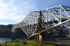 `Bridge of the Gods`, Columbia Gorge, WA & OR stock images