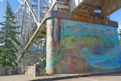 Bridge of the Gods Mural Stock Photography