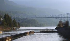 Bridge of the Gods, Oregon-Washington states. royalty free stock images