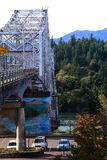 Bridge of the gods sideview, Oregon. Royalty Free Stock Photos