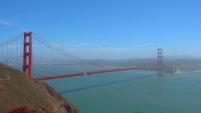 Bridge Golden Gate at San Francisco day time. Landscape stock footage