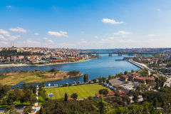 Bridge through The Golden Horn in Istanbul Royalty Free Stock Images
