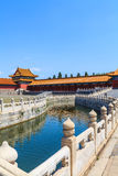 Bridge on Golden River in the Forbidden City Royalty Free Stock Image