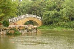 Bridge and goldfish Stock Images