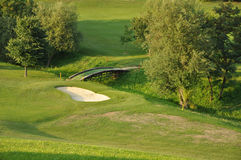 Bridge on Golf Course Royalty Free Stock Photography
