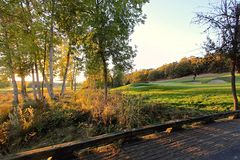 Bridge at the Golf Course Stock Photography