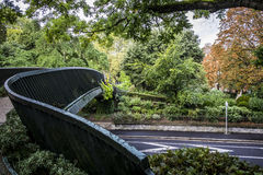 Bridge on Grand Rond public park in Toulouse Stock Images