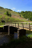 Bridge at grassmere. Hills bridge river stream tree heather heath moor flood summer sunny peace tranquil tranquility Royalty Free Stock Images