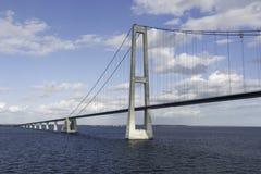 Bridge Great Belt Denmark. Suspension bridge Great Belt Denmark connecting the Zealand and Funen Royalty Free Stock Images