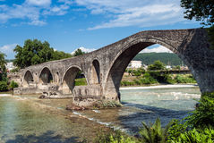 Bridge in Greece. The famous stone bridge in Arta, Greece Stock Images