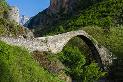 Bridge in Greece. The historical stone bridge of Konitsa in Epirus, Greece Stock Images