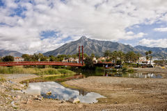 Bridge on Green River in Marbella Stock Images