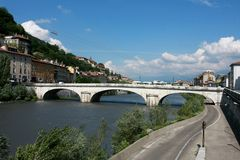 Bridge in Grenoble Royalty Free Stock Image