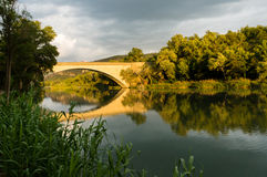 Bridge at Greoux les Bains Royalty Free Stock Image