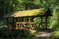 Bridge on the Grobbach in Geroldsau Royalty Free Stock Photography