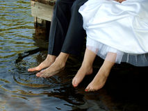 Toes in the water Royalty Free Stock Photos