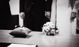 Bridge and groom at registry office Stock Photography