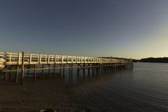 Bridge in Guamare, RN, Brazil royalty free stock photography