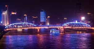 Bridge of guangzhou. Bridge on pearl-river,guangzhou,guangdong,china Stock Images