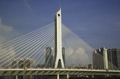 A bridge in Guangzhou. The bridge is a beautiful  scene in the city Royalty Free Stock Photo