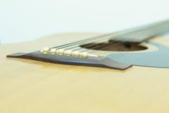 Bridge guitar. The Bridge cable on guitar Stock Photography