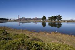 bridge guld- sceniskt för port Arkivbilder