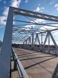 Bridge at the Hackensack River stock photography