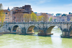 The Bridge of Hadrian, Rome Royalty Free Stock Photos