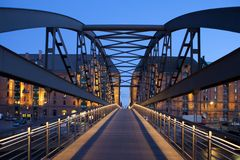 Bridge in Hamburg, germany Royalty Free Stock Image