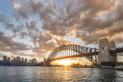 bridge hamnen sydney Arkivbilder